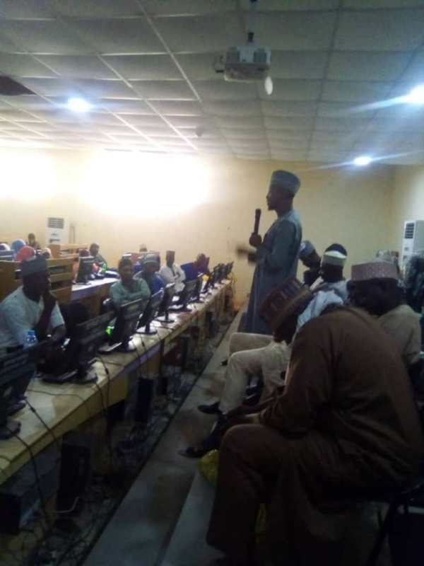 A cross-section of union executives and resource persons at the event held at the ICT centre of Nuhu Bamalli Polytechnic, Zaria